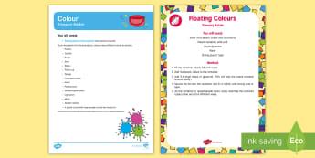 Colour Treasure Basket Ideas - EYFS Colour, rainbow, colour mixing, discovery basket, exploration, sensory play, heuristic play, ba