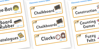 Lion Themed Editable Additional Classroom Resource Labels - Themed Label template, Resource Label, Name Labels, Editable Labels, Drawer Labels, KS1 Labels, Foundation Labels, Foundation Stage Labels, Teaching Labels, Resource Labels, Tray Labels, Pri