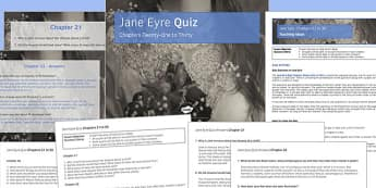 Jane Eyre Quiz Chapters 21 to 30 - jane eyre, chapters, 21, 30, ks3