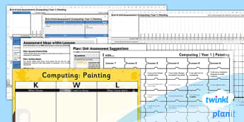 PlanIt - Computing Year 1 - Painting Unit Assessment Pack - planit, computing, year 1, assessment, pack