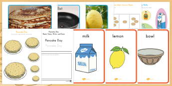 Pancake Day  Printable Resource Pack - US Requests, pancake day, shrove tuesday, easter, display, odd and even, cutting skills, size