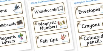 Osprey Themed Editable Writing Area Resource Labels - Themed writing resource labels, literacy area labels, writing area resources, Label template, Resource Label, Name Labels, Editable Labels, Drawer Labels, KS1 Labels, Foundation Labels, Foundation