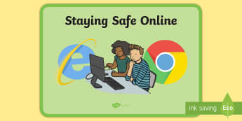 Staying Safe Online Display Poster - Staying Safe Online Display Banner - ICT, IT, internet safety, abnner