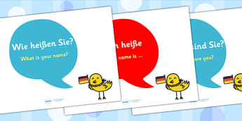 German Basic Phrase Posters - MFL, German, Modern Foreign Languages, basic phrases in German, foundation, languages, display