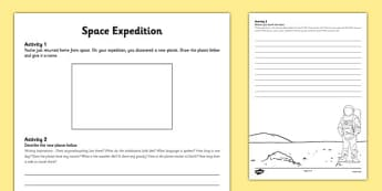 Space Expedition Activity Pack - Astronomy Day, astronomy, space, planet, discovery, expedition, descriptive writing, recount