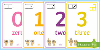0 to 10 Number Display Posters - 0-10, numbers to 10, maths, maths display, maths posters, counting, number recognition