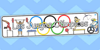 Spanish The Olympics Display Banner - banners, displays, sport