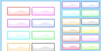 Multicoloured Self-Registration Labels - rainbow, registration, pupils, KS1, Key stage 1, display, register