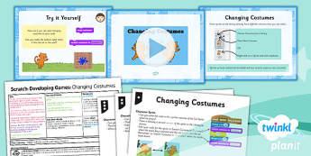 PlanIt - Computing Year 5 - Scratch Lesson 5: Changing Costumes Lesson Pack