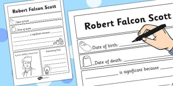 Robert Falcon Scott Significant Individual Writing Frame - Robert