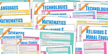 Scottish Curriculum For Excellence Overview Posters First