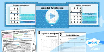 PlanIt Y3 Multiplication and Division Lesson Pack Multiplication (3) - expanded multiplication, column multiplication, written multiplication, formal written method, calculation methods, planning