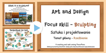 KS2 Art Sculpture PowerPoint Polish Translation - polish, art, sculptures, powerpoints