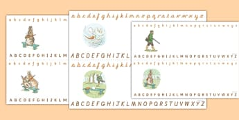 Beatrix Potter - The Story of a Fierce Bad Rabbit Alphabet Strips - beatrix potter, fierce, bad, rabbit