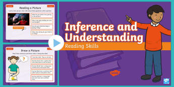 Year 2 Autumn Term Inference and Understanding Reading Skills PowerPoint - Infer, Thinking, Deduction, Starter, Filler, Warm-Up,