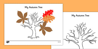 Autumn Tree Template - roi, irish, republic of ireland, autumn, tree, template