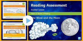 Year 5 Reading Assessment Poetry Term 3 Guided Lesson PowerPoint - comprehension, SATs, KS2, read, assessment, guidance, assess,