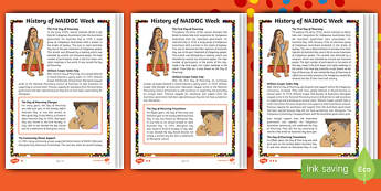 NAIDOC Week Differentiated Reading Comprehension Activity - Australia, History, Indigenous, William Cooper, Day of Mourning, Aboriginal, Torres Strait Islander,