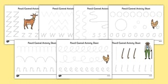 A Tight Squeeze Pencil Control Sheets - a squash and a squeeze, julia donaldson, a tight squeeze, pencil control