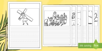 Easter Story Writing Frames - Easter Sequencing, Easter Story, Foundation, KS1, Easter, Easter resource, Easter bible, Easter teaching resource, Easter Jesus, Easter Sunday, Easter, bible, egg, Jesus, cross, Easter Sunday, bunny, chocolate, hot