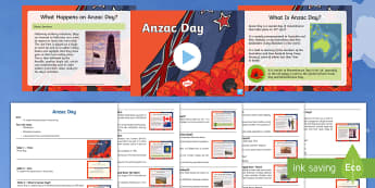 Anzac Day Assembly Pack - Australian Requests, anzac, anzac day, history, HASS, year 3, year 4, year 5, year 6, information, a