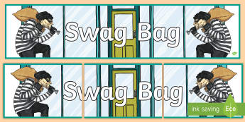 Swag Bag Display Banner - Requests KS2 English, teaching displays, magpie, vocabulary, boosting vocabulary, vocabulary choices