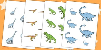 Dinosaur Size Ordering - dinosaurs, prehistoric, size, order