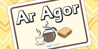 Cafe Open Sign Welsh Translation - EAL, language, roleplay, props