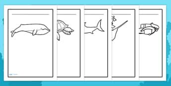 Under the Sea Writing Frames - under the sea, writing frames, sea, seaside, water, writing template, writing frame, word cards, flashcards, template, tide, fish, sea creatures, shark, whale, marine, dolphin, starfish, waves, sand