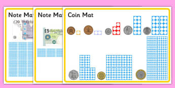 Maths Intervention Money Mats - SEN, special needs, maths, money, counting money, recognising money, adding money, coins, notes