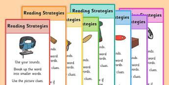 Reading Strategies Bookmarks - reading strategies, bookmarks, reading, read, strategies