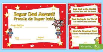 Father's Day Card English/Romanian - Father's day blank card templates, design, father's day card, father's day cards, father's day a