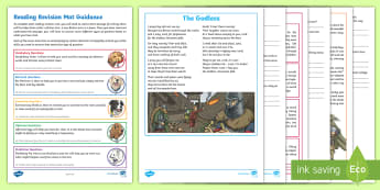 Year 5 Reading Revision Activity Mat Pack 1 - English, Reading, Inference, Poetry, Poem, Fiction, Story, Information, Swords, Deduction, Weapons,