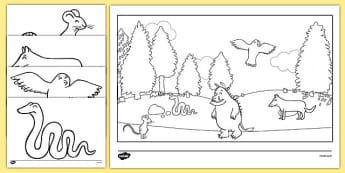 The Gruffalo Colouring Sheets - The Gruffalo, resources, mouse, fox, owl, snake, Gruffalo, fantasy, rhyme, story, story book, story book resources, story sequencing, story resources, Colouring Sheets, colouring, colouring activity,