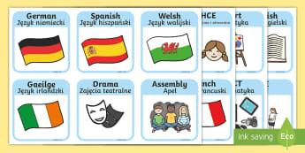 SEN Visual Timetable for School English/Polish - SEN Visual Timetable for School - sen visual timetable, school visual timetable, simple visual timet