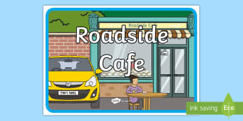 Roadside Cafe Role Play Display Sign - CfE Outdoor Learning, nature, forest, woodland, playground, outdoor learning, cafe, money, role play