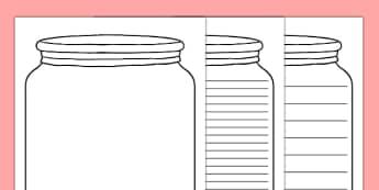 Dream Jar Writing Template