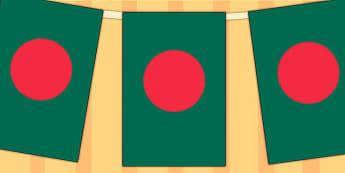 Bangladesh Flag Display Bunting - commonwealth, display, flags