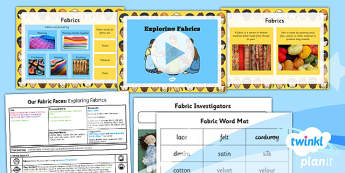 PlanIt - DT KS1 - Our Fabric Faces Lesson 1: Exploring Fabric Lesson Pack