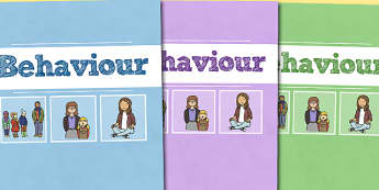 A4 Behaviour Divider Covers-A4, behaviour, divider covers, behaviour management, class management, themed divider covers