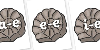 Modifying E Letters on Fossils - Modifying E, letters, modify, Phase 5, Phase five, alternative spellings for phonemes, DfES letters and Sounds
