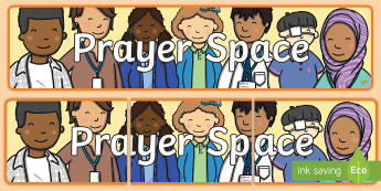 Prayer Space Display Banner - Prayer Space Banner - prayer area, prayer area banner, prayer area display, prayer display, prayer r