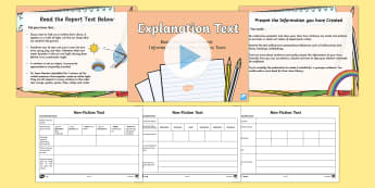 Explanation Text   Read, Record and Present Information Lesson Pack - deliver presentations, plan, ACELY1700, reading, comprehension, audience, purpose, multimodal,Austra