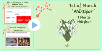 1st of March Romanian Celebration of Spring PowerPoint English/Romanian - romanian, 1st of march, informative, powerpoint, information, festival, celebration,romanina, twinke - romanian, 1st of march, informative, powerpoint, information, festival, c