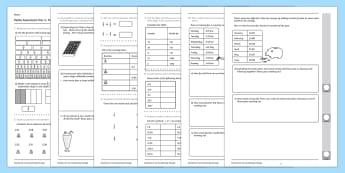 Year 4 Maths Assessment Fractions Term 1 - year 4, maths, assessment