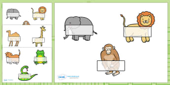 Self Registration to Support Teaching on Dear Zoo - Dear Zoo, Rod Campbell story, self registration, register, attendance, zoo, zoo animals, adjectives, descriptive words, lion, monkey, puppy, giraffe, story book, story book resources, story sequenci