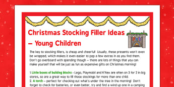 Christmas Stocking Filler Ideas Young Children - christmas stocking filler, ideas, young children