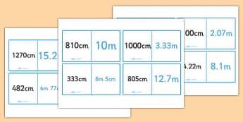 Metres And Centimetres Loop Cards - metres and centimetres, length, metres, centimetres, loop card, cards, flashcards, loop, image, m, cm, distance, Maths