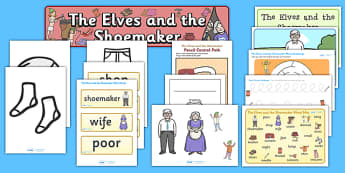 The Elves and the Shoemaker Resource Pack - the elves and the shoemaker, story book, resource pack, resources, pack, elves, shoes, cobbler