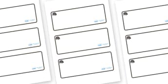 Hippo Themed Editable Drawer-Peg-Name Labels (Blank) - Themed Classroom Label Templates, Resource Labels, Name Labels, Editable Labels, Drawer Labels, Coat Peg Labels, Peg Label, KS1 Labels, Foundation Labels, Foundation Stage Labels, Teaching Labels